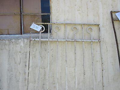 Antique Victorian Iron Gate Window Garden Fence Architectural Salvage Door #376 2