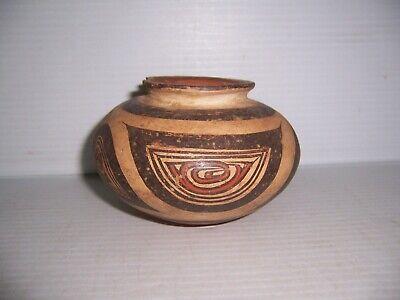 "Pre-Columbian Panama Cocle Pottery Polychrome Olla Jar 5"" x 3 1/4"" 6"