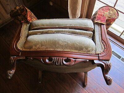 Vintage Carved Mahogany Armchair.(Sort Back) 5