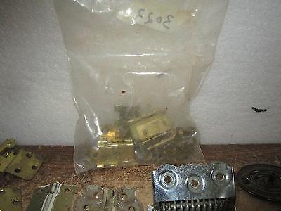 Vintage Misc Pulls Hinges L Bracket Bag of L Hinges Drawer Cabinet Pulls More 7