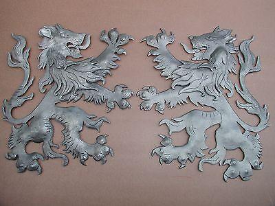 "Scottish Rampant Unicorn with Lion, Driveway Gate Crest,Cast Aluminum,23""x 19"" 10"
