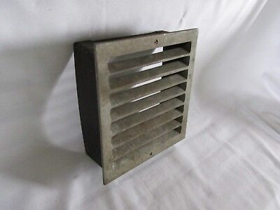 Vintage Metal Square Heat Vent, Salvaged Steampunk 3
