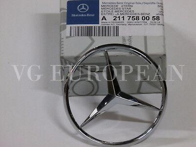 Mercedes W211 E-Class Trunk Star Emblem BRAND NEW GENUINE 211 758 00 58