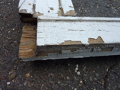 "c1880 WINDOW pediment VICTORIAN gingerbread header & surround molding 45""w x 62"""