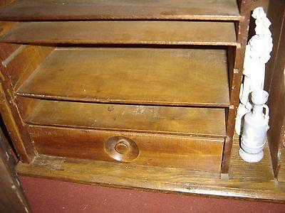 Large Antique Oak Cubbyholes                      8144 6