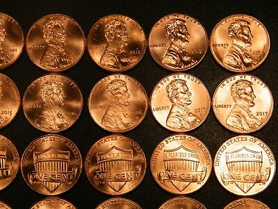 10 11 12 13 14 15 16  17 18 2019 P&D Lincoln Shield Cent Penny Set BU US Coin 6
