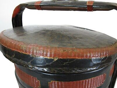 Chinese Antique Bamboo Food Basket 7