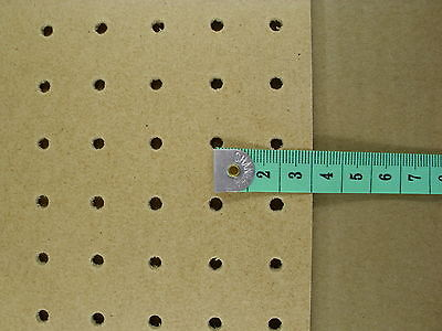 3mm wooden Pegboard 1200MM X 600MM, 18mm Hole centres perforated hardboard 5