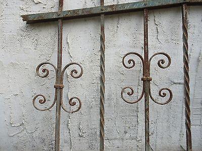 Antique Victorian Iron Gate Window Garden Fence Architectural Salvage #929 2