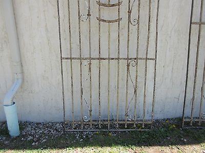 Antique Victorian Iron Gate Window Garden Fence Architectural Salvage Door #373 4