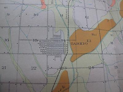 Color Soil Survey Map Atchison County Minnesota Tarkio Rock Port Fairfax 1909 2