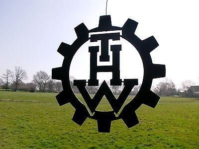 LOGO aus Stahl, --THW-- Technisches Hilfswerk D=40cm 3mm Hilfsorganisationen 6