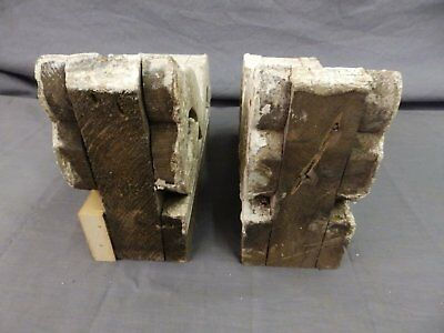 Antique Pair Wood Small Corbel Victorian Architectural Shabby Vtg Chic 506-17P 11