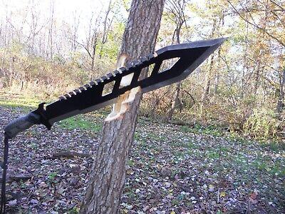 Combat machete/Sword/Bowie/Knife/Full tang/Rubber grip/Survival/SCRATCH & DENT 12