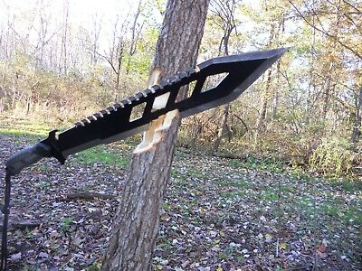 M1 Hellfire/Combat machete/Sword/Bowie/Knife/Full tang/Rubber grip/Survival 12