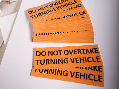 OVERSIZE PVC Banner 1250x450mm Truck Safety Sign Nylon Rope NON REFLECTIVE 8