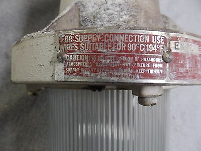 Vtg Industrial Sealed Hazardous Area Light Fixture Old Factory Steampuk 11-16 8