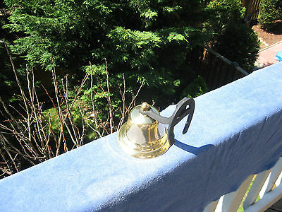 Vintage Brass Dinner/Farm Bell With Horseshoe Mount~Made In Japan 8