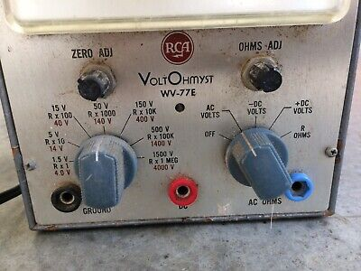Vintage RCA VOLTOHMYST Type WV-77E volt meter tube test equipment 3