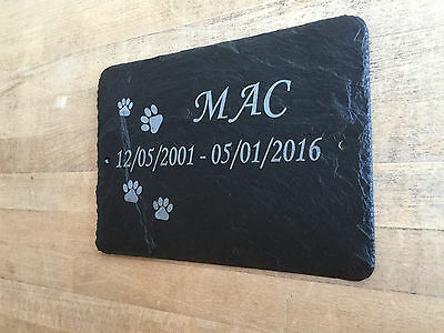 Pet Memorial Slate Plaque Personalised for your Husky - Japanese Akita 23cm x 16 3