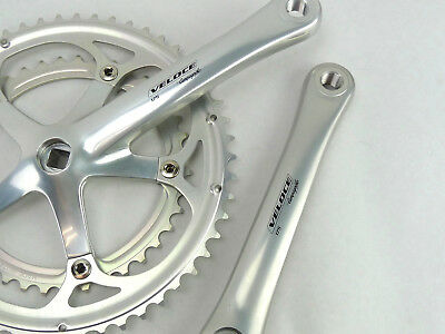 Campagnolo Mirage Double Crankset 172.5mm 53//39 T EXA-Drive Chainrings NOS Vinta
