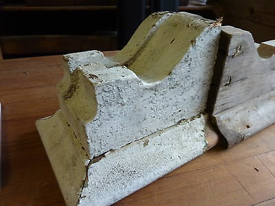GREAT pair SMALL dentil style VICTORIAN corbel brackets CRUSTY white paint 9 x 7 2