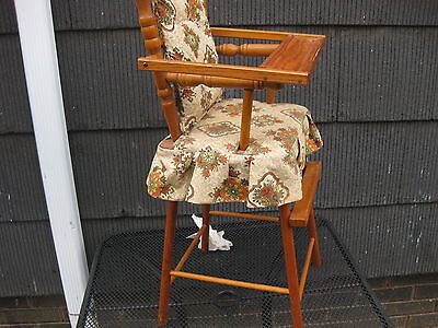 4 of 12 Vintage CASS TOYS Wooden Doll High Chair Antique Toy Old Dolly Girl  MADE IN USA - VINTAGE CASS TOYS Wooden Doll High Chair Antique Toy Old Dolly Girl