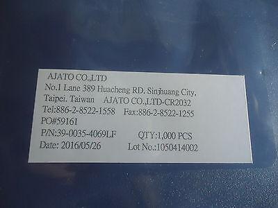 1000 New On Reel P/N 39-0035-4069Lf Battery Holder Smt By Ajato, Taiwan 2