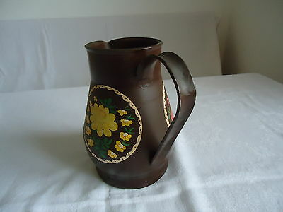 Milchkanne Kanne Vase Trockenblumen Gesteck Metallkanne Dekoration handbemalt 4