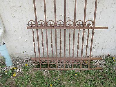 Antique Victorian Iron Gate Window Garden Fence Architectural Salvage Door #312 5