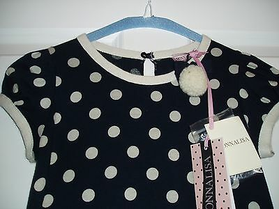 NEW MONNALISA luxury polka dress, size 7 years  cost £101 5