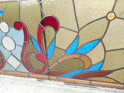 Vintage English Stained Glass Hanging Window (3130)NJ 3