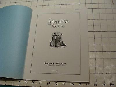 vintage Original Catalog: ENTRPRISE WROUGHT IRON fences-gates-arches, 1931 or so 2