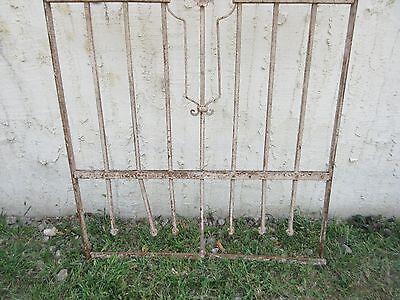 Antique Victorian Iron Gate Window Garden Fence Architectural Salvage #869 4