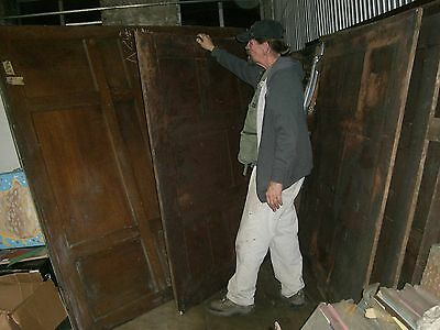 "Tiger Oak wood  Wainscot  Architectural  Antique raised  panel 77 "" X  67"" 5"