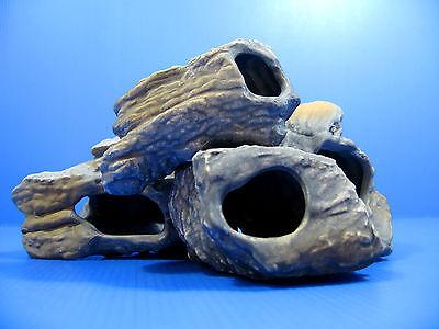 4pcs CICHLID STONE Céramique Aquarium Cave Rock Decor pour Tropical Fish Tank 11