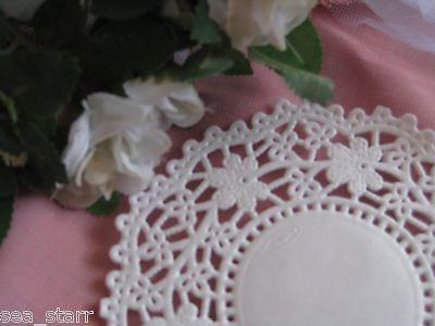 45 Inch White Daisy Flower Lace Paper Doily Doilies Craft 25 Pcs