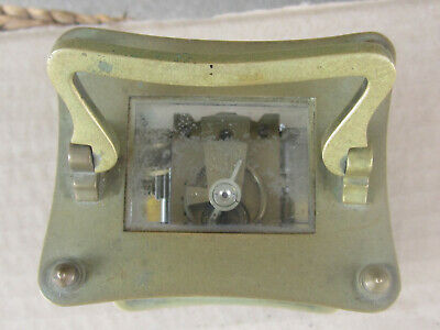 Antique French Bronze Carriage Clock 1900s - working 3