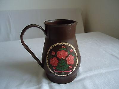 Milchkanne Kanne Vase Trockenblumen Gesteck Metallkanne Dekoration handbemalt 5