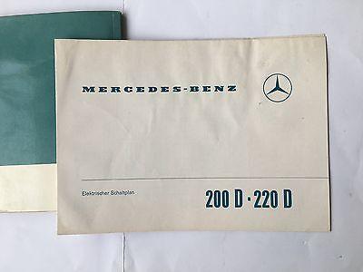 BEDIENUNGSANLEITUNG BETRIEBSANLEITUNG + Schaltplan Mercedes 200D ...