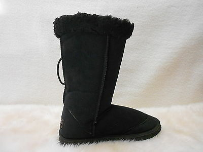 Ugg Boots Tall, Synthetic Wool, Lace Up, Size 13 Men's Colour Black
