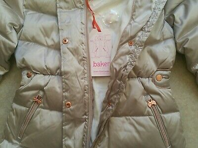 Baker by Ted BakerGirls' Ivory Padded Shower Resistant Coat Age 12 Years 2