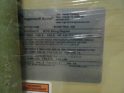 Ingersoll Rand Nirvana Cycling Refrigerated Compressed Air Dryer Nvc800 New Oem 5