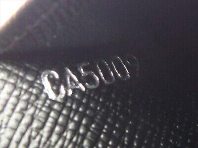 Louis Vuitton Authentic Epi Leather Black Agenda fonctionnel PM Diary cover Auth 12