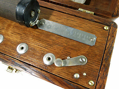 Antique Early 1900s Compact D.D. Home Medical Apparatus — Solid Oak Box 3