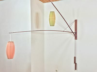 50s Mid Century XXL SKRIP Teak Sconce Wall Lamp Rispal Danish Era Kalff Thurston 2