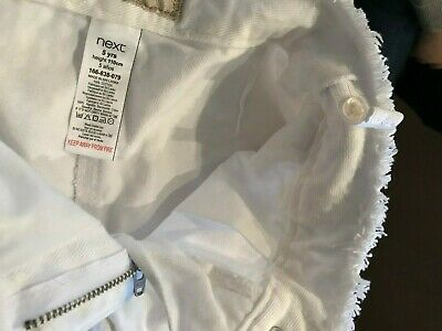 Next - Girls Ankle Length WHITE Culottes (5 years) Adjustable Waist NWT £13 9