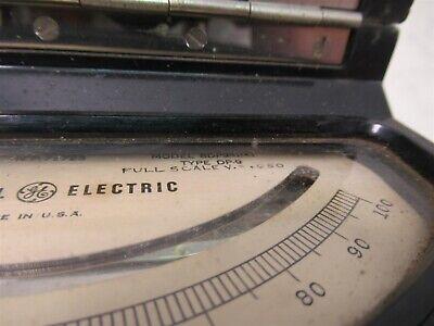 Vintage General Electric Type DP-9 DC Voltmeter Model 8DP9ABA1 Test Unit 12