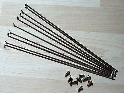 5 x Alpina F1 NIRO Speiche,Fahrradspeichen,Edelstahlspeichen,290 mm,Ø2mm,Silber