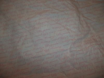 Koala Baby I Love Daddy Mommy Pink/White Fitted Crib/Toddler bed Sheet {Fabric} 2
